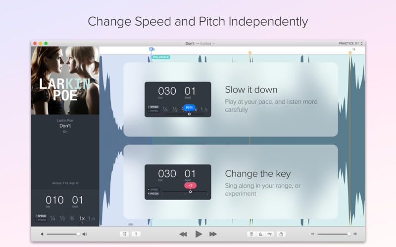 APP TO SLOW DOWN VOICE AND ACCENT RECORDINGS Capo 3 by