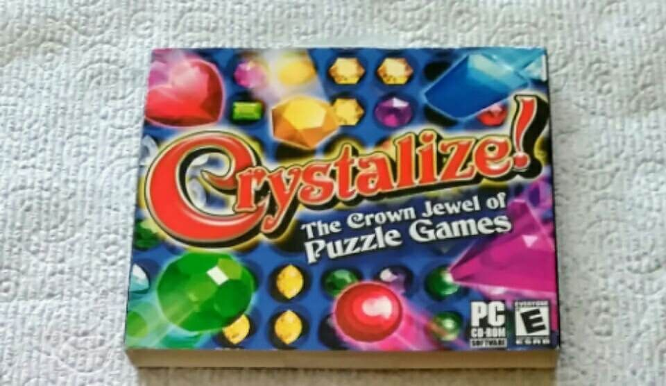 Crystalize (PC Games, ) windows puzzle game Preowned Used