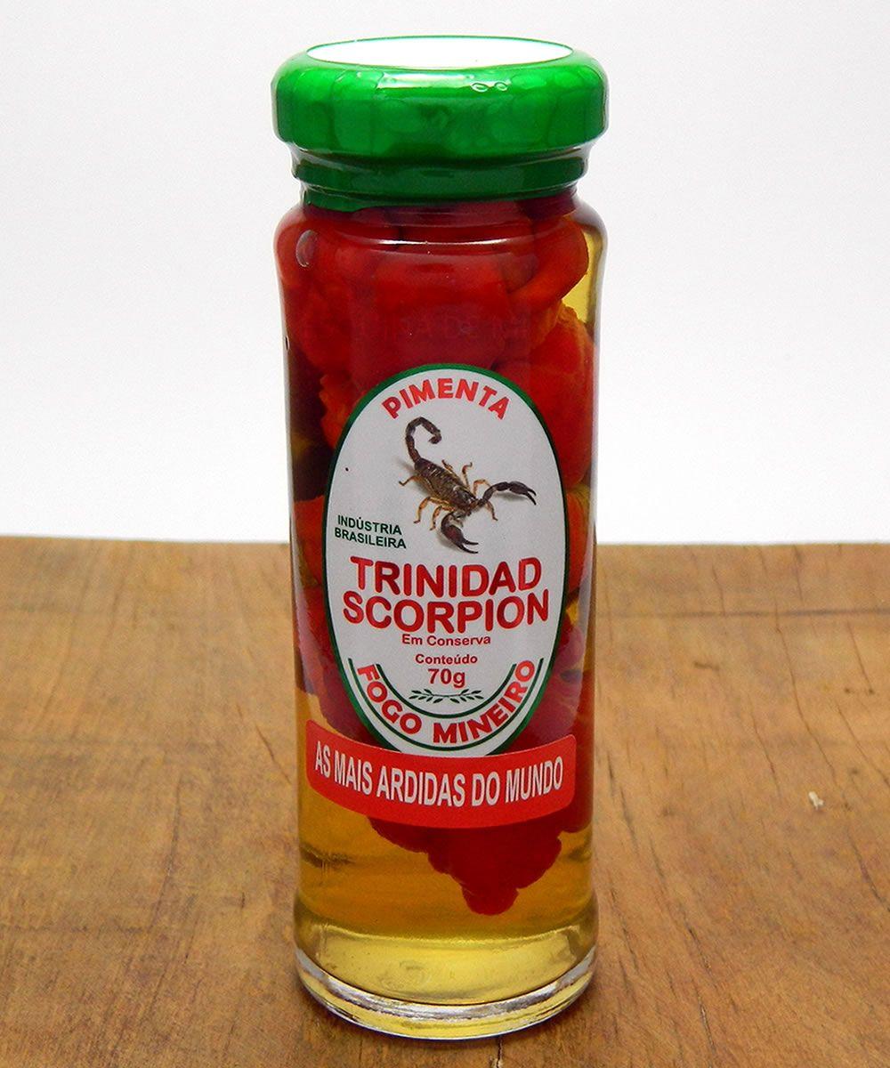 Conserva De Pimenta Trinidad Scorpion Fogo Mineiro Conserva De