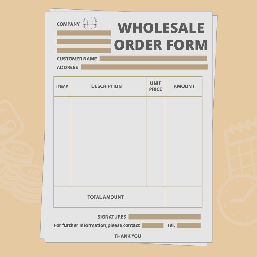 wholesale order form template free