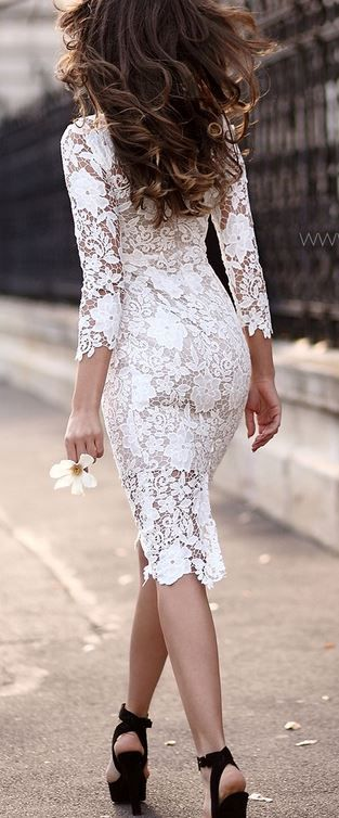 Dantelli Beyaz Kalem Elbise Modeli 2015 Kalem Elbise Elbise