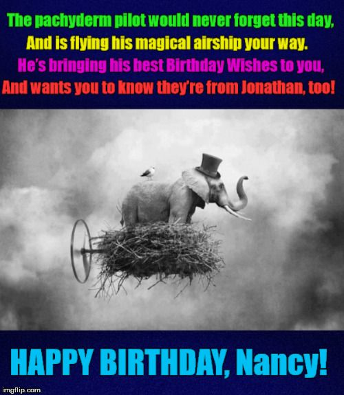 Birthday,birthday,flying Elephant,elephant,pachyderm