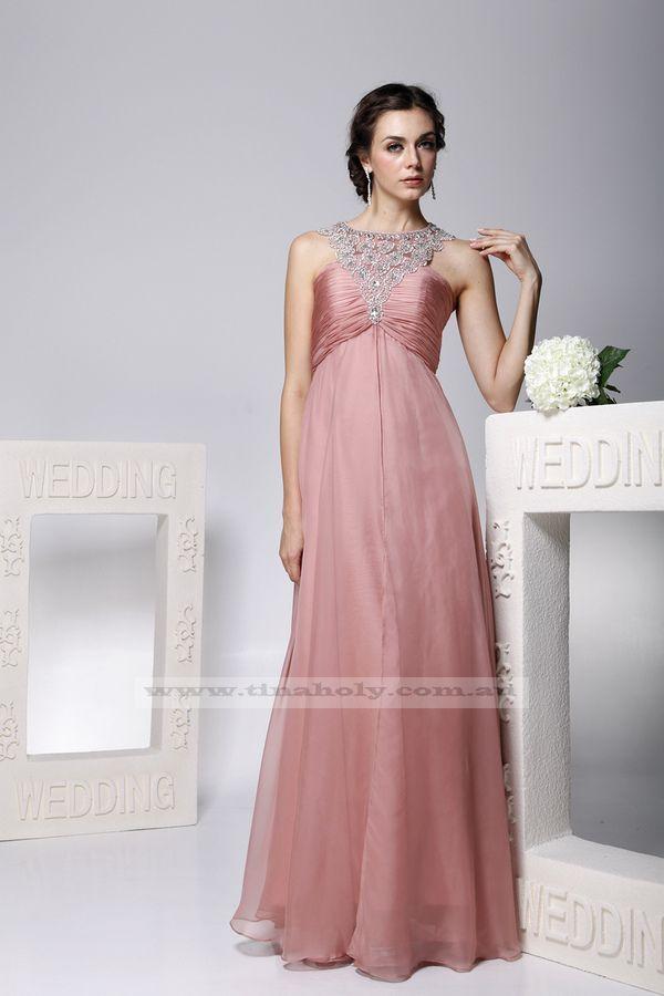 Pink dress formal evening