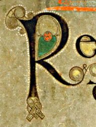 Book of Kells - initial letter R