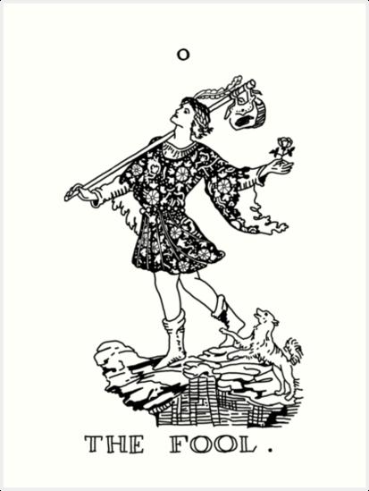 The Fool Tarot Card Art Print By Rachels1689 In 2021 Tarot Card Tattoo Card Art Tarot Cards Art