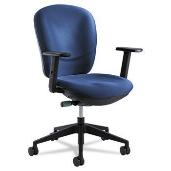 Rae Series Synchro-Tilt Task Chair, Blue by Safco. $614.95. Brightens every work place with a ray of sunshine. Ratcheting back for workday comfort. Adjustable controls to accommodate every user's needs. Casters provide easy mobility. Recommended Applications: Conference, Training & Meeting; General Office & Task; Features & Functions: 360 Swivel; Pneumatic Seat Height Adjustment; Seat Glide Mechanism; Variable Synchro-Tilt; Arms Included: Yes; Back Width Minimum: N/A.