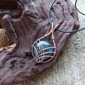 Photo of Boho – blue grey Labradorite pendant – Heady Wire wrapped pendant – Leather wire… – Stylekleidung.com