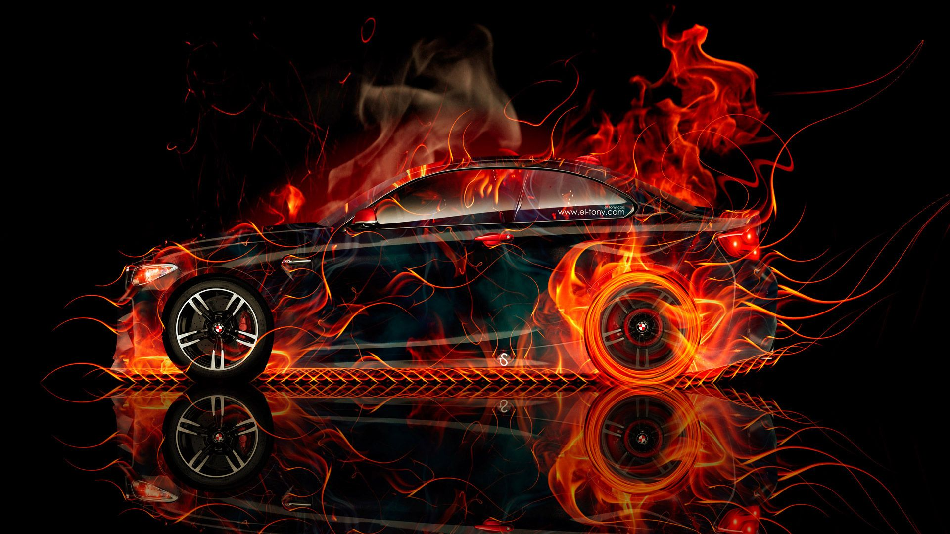 Flame Abstract Image Bmw M2 Coupe Side Super Fire Flame Abstract Car 2016 Creative Red Bmw Bmw M2 Coupe