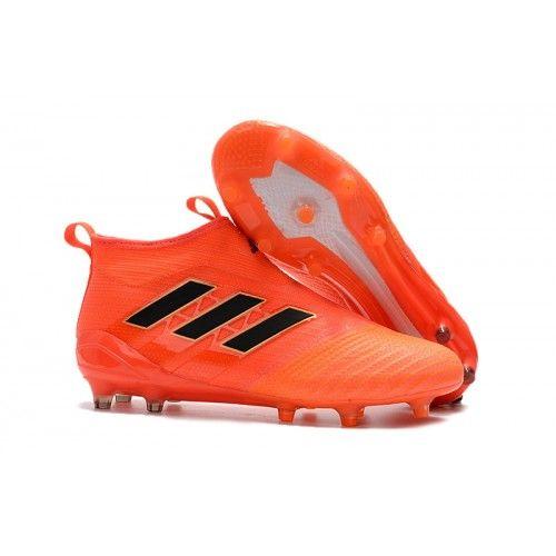 wholesale dealer 8b588 df307 Adidas ACE 17+ PureControl FG Fotbollsskor Orange och svart