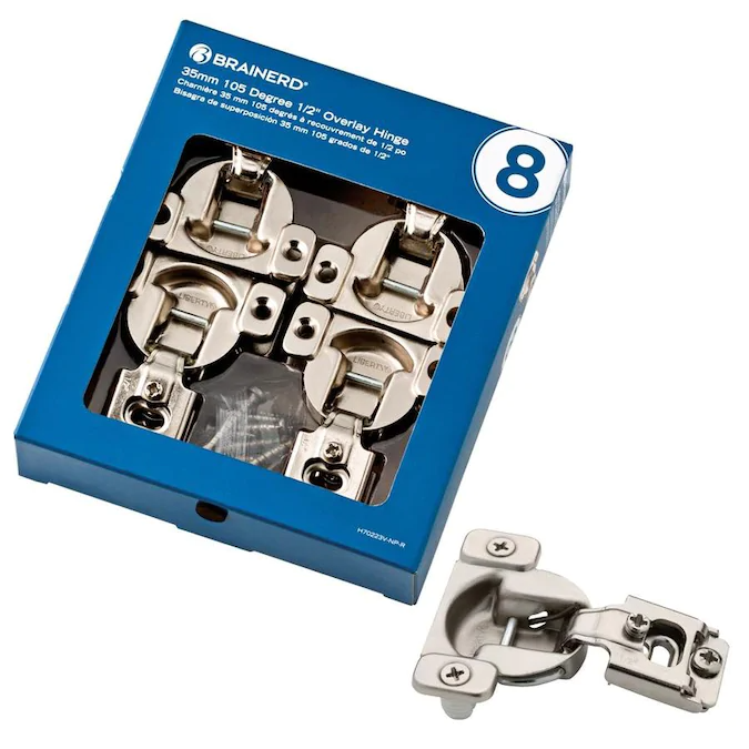 Brainerd 8 Pack 1 2 In Nickel Plated Concealed Cabinet Hinge Lowes Com In 2020 Hinges For Cabinets Face Frame Cabinets Hinges