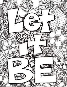 Adult Coloring Page Adult coloring Language arts and Language