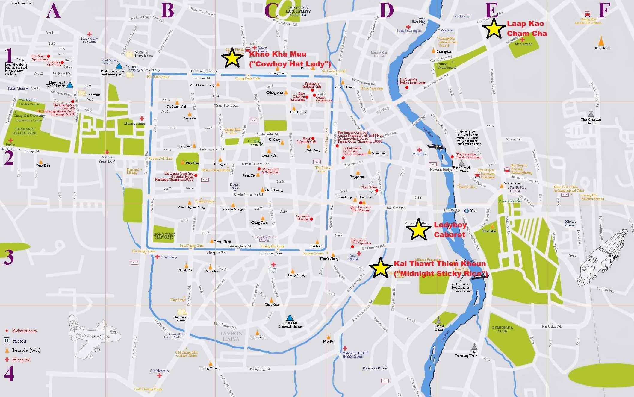 Anthony bourdain chiang mai food map city map food