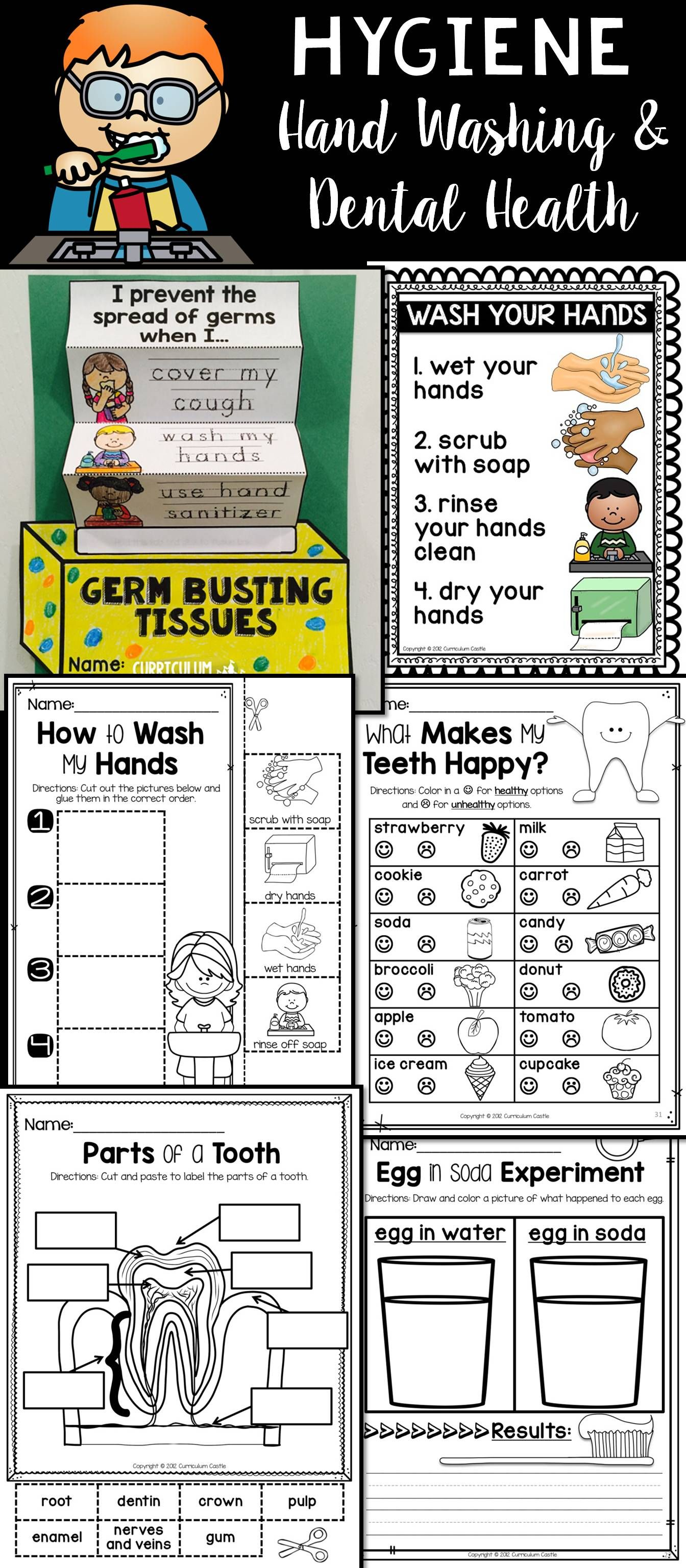 Hygiene And Healthy Habits Hand Washing Amp Brushing Teeth Dental Health