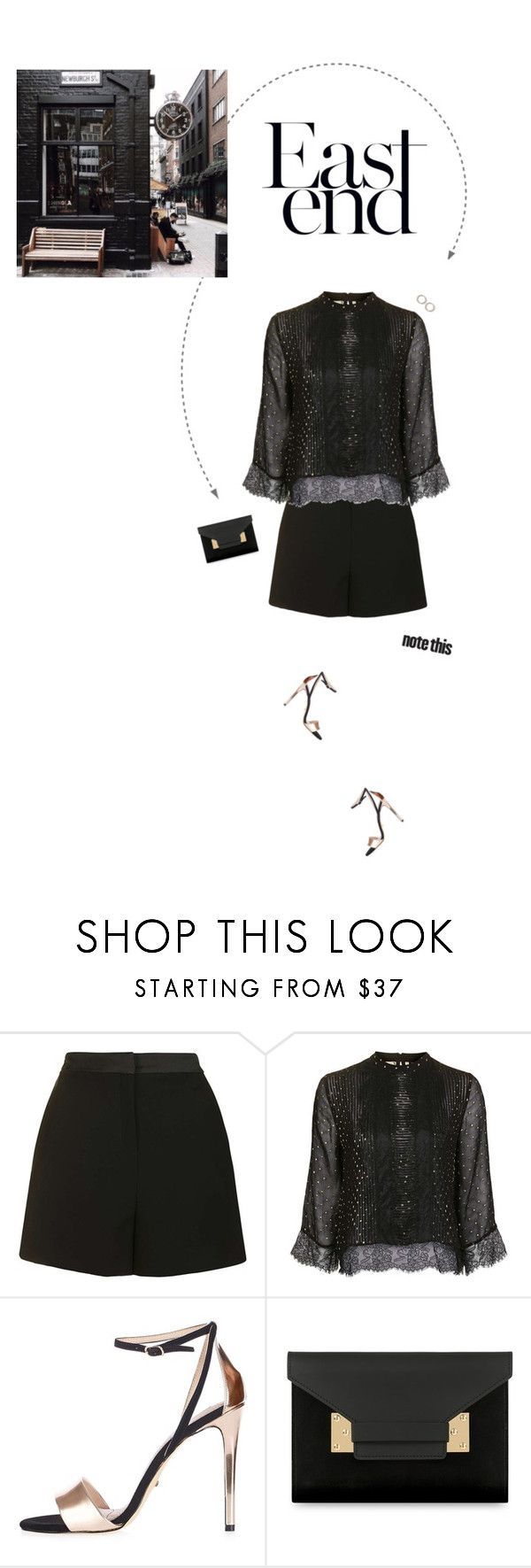 """All Black Outfit."" by xabbielou ❤ liked on Polyvore featuring Topshop and Sophie Hulme"