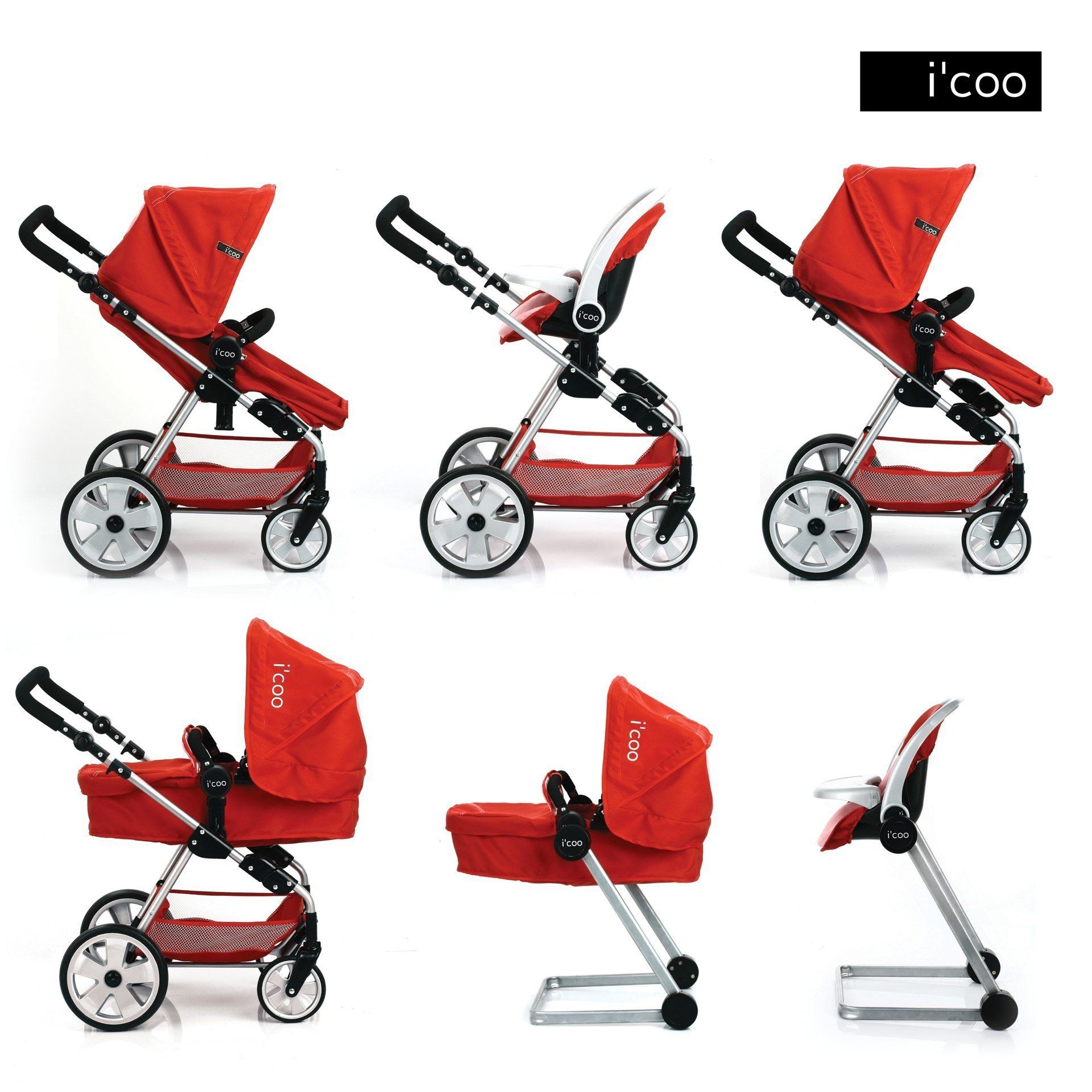 Hauck Doll Stroller Pram I'coo Grow With Me