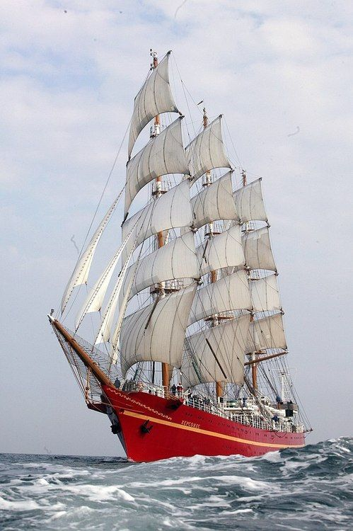 Cc The Khersones Or Cherones Is A Ukrainian Full Rigged Three Masted Tall Ship Built In By Robbie