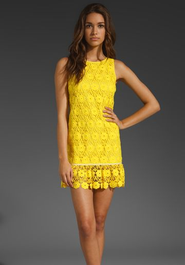 Juicy couture daisy guipure lace dress