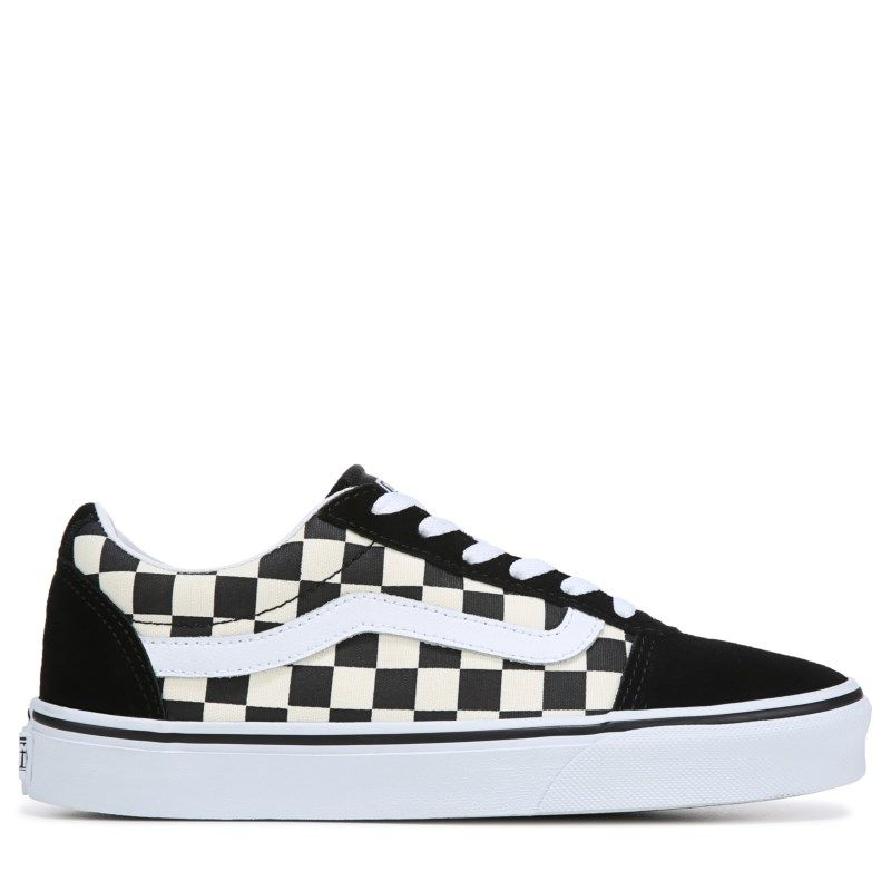 a02864d71783 Vans Women s Ward Low Top Sneakers (Checkerboard Black)