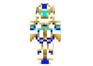 Diamond Gold King Skin for Minecraft