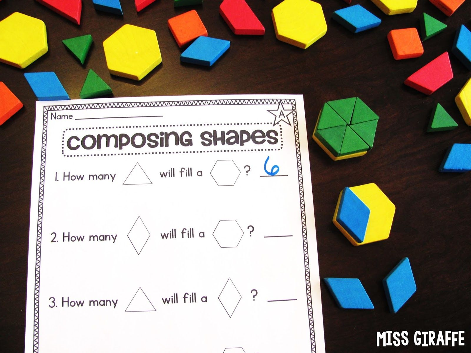 Composing Shapes In 1st Grade