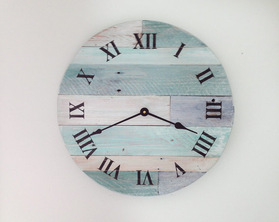 Beach Wall Clock 15 1 2 Wide Hanging Nautical Theme For Cottage Or Coastal Decor