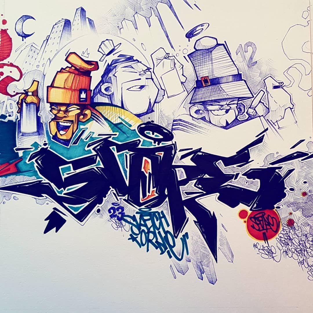 персонажи граффити рисунки