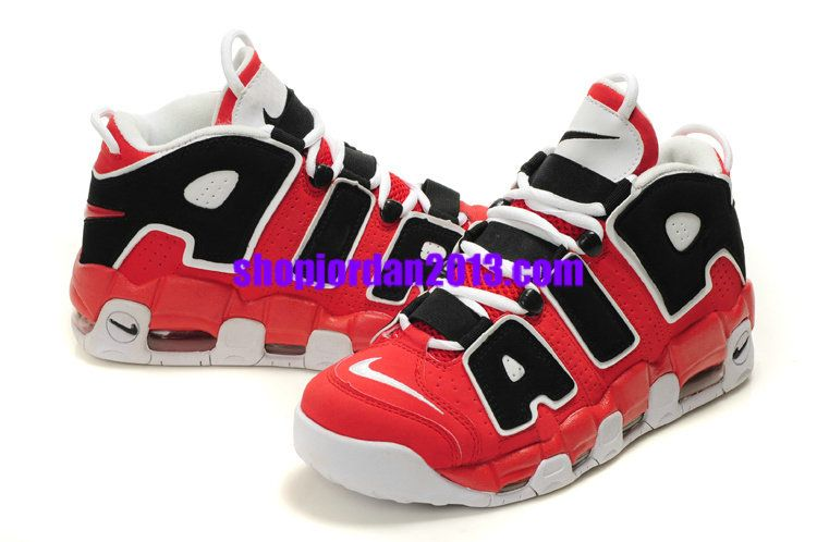 release date: 8d3ae 44cfb Nike Air More Uptempo Scottie Pippen Shoes Red/Black/White Cheap NBA  Basketball Shoes #Red #Womens #Sneakers