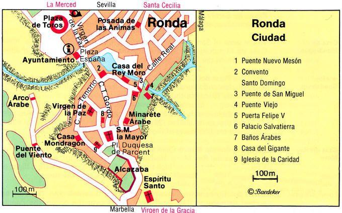 Puente Viejo Spagna Cartina.Mappa Ronda Cartina Di Ronda In Spagna Mappa Spagna