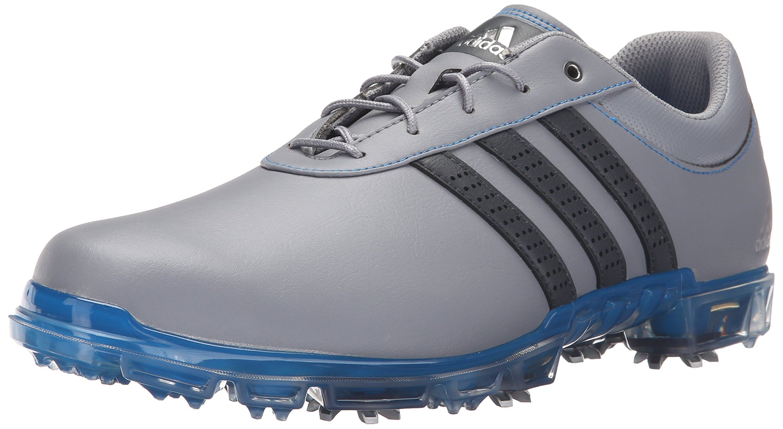 Adidas uomini adipure flex scarpa da golf, grigio / grigio scuro / shock blu, m