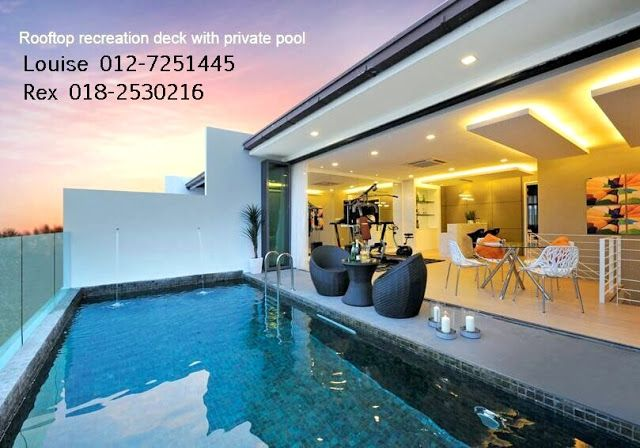 Property In Kl Selangor Puchong New 3 Storey With Swiming Pool Pool Houses Puchong Buying Property