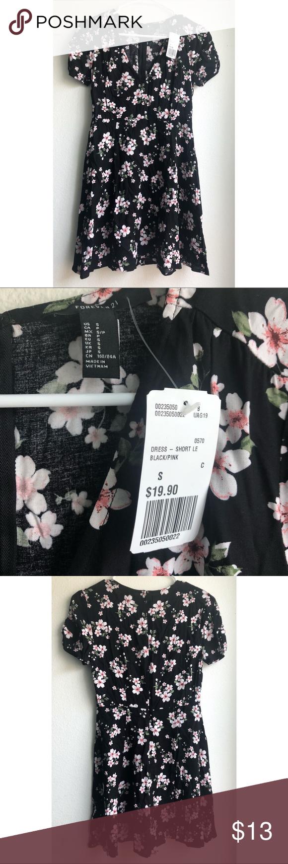 Forever 21 Black Floral Dress Black Dress With Pink Flowers Forever 21 Dresses Floral Dress Black Floral Dress Dresses [ 1740 x 580 Pixel ]
