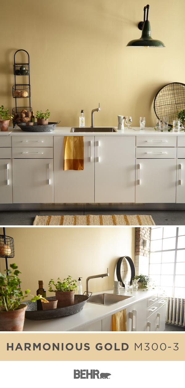 The Kitchen Is The Heart Of The Home Give Yours An Easy Style Upgrade With A New Coat Of Behr Yellow Kitchen Walls Paint For Kitchen Walls Kitchen Wall Colors