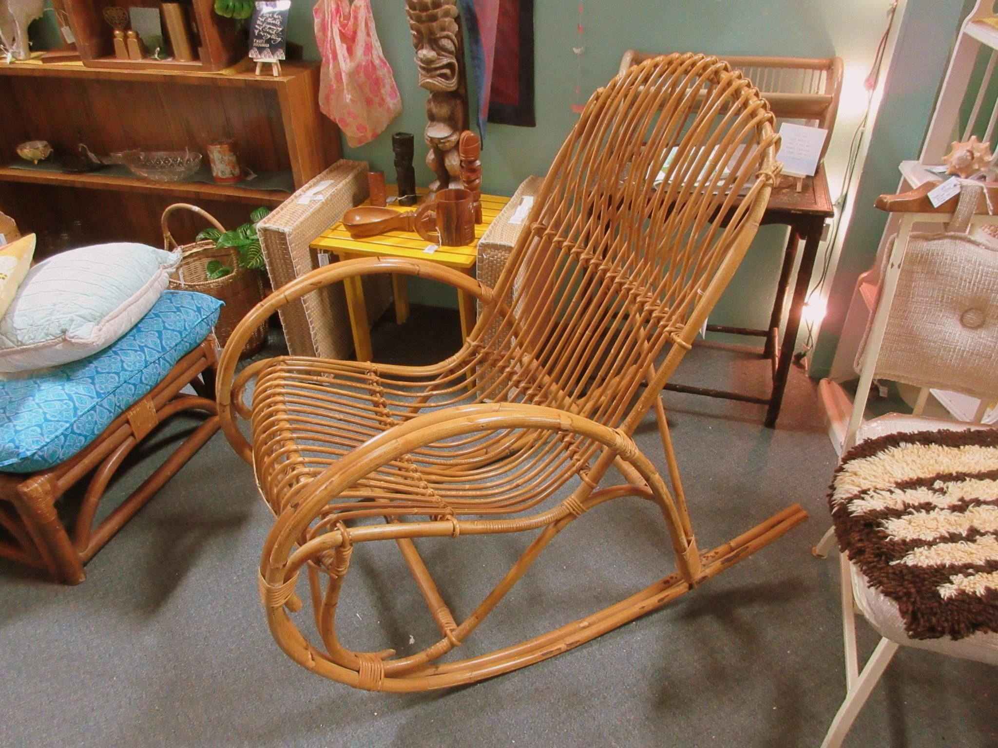 Rattan Rocking Chair From Vendor  In Booth  Priced At