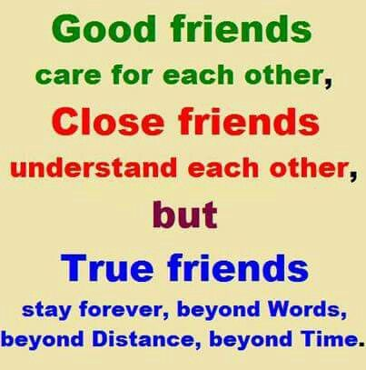 This is so true! The truest friends will NEVER leave you behind no