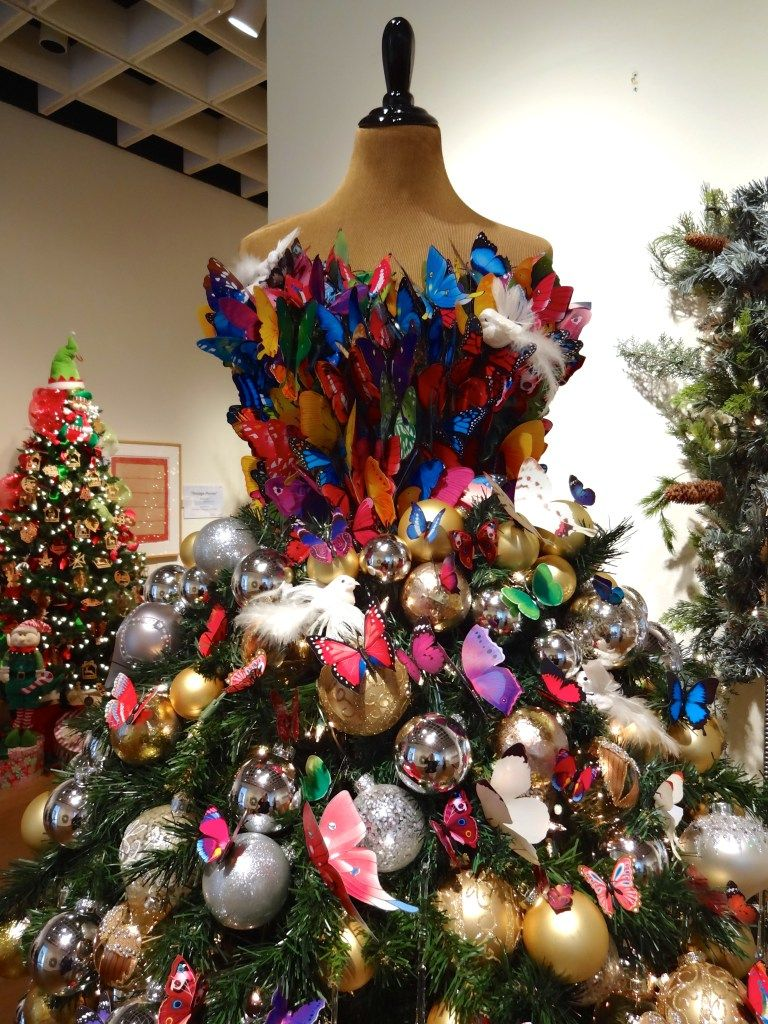 Festival Of Trees Orlando Museum Of Art Celebrating 30 Years Funandfork Holiday Decor Halloween Mannequin Christmas Tree Christmas Tree Themes