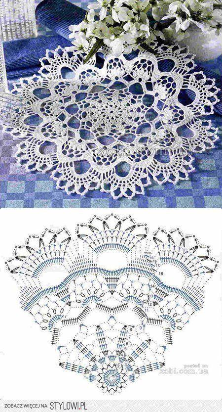 Best 11 Crochet doily chart pattern – SkillOfKing.Com #crochetdoilies