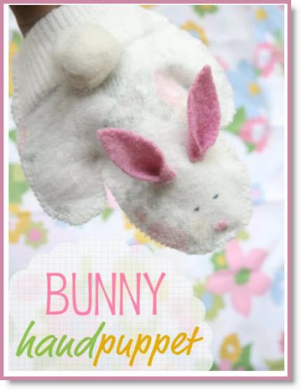 hand puppet ♥ http://felting.craftgossip.com/2014/03/24/how-to-bunny-hand-puppet/