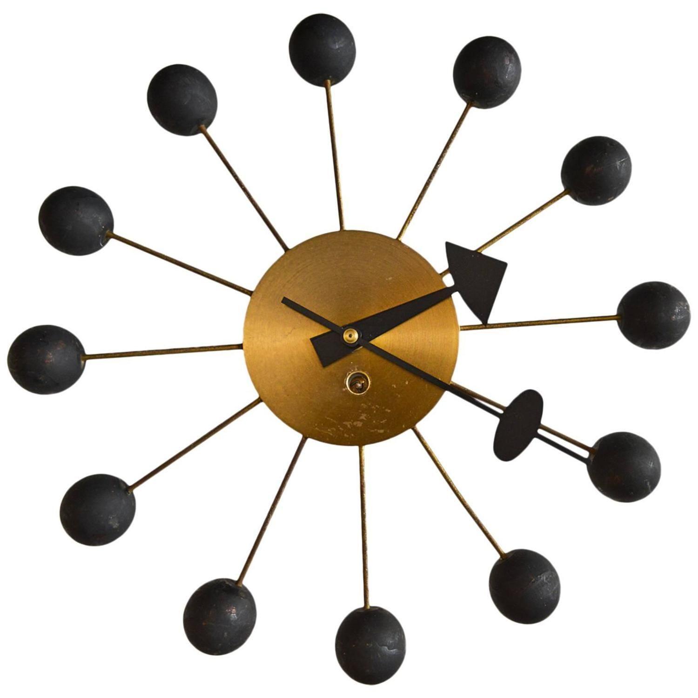 Original George Nelson Ball Clock Nelson Ball Clock Clock Modern Clock
