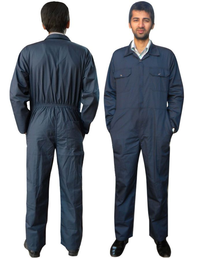 1ae4bd99ca47 Boiler Suit Coverall Overall Workwear Mechanics Work Suit Navy Blue S to  XXXL