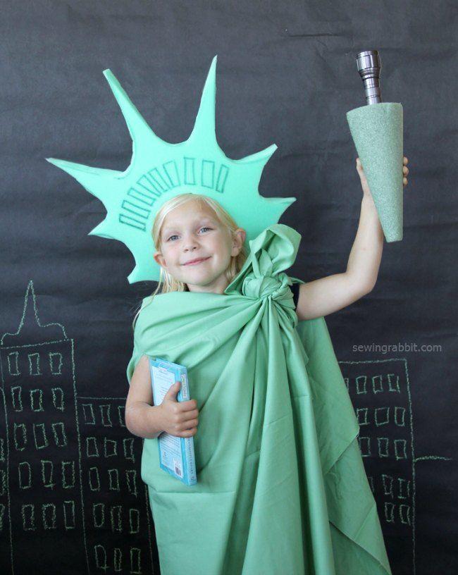 disfraz casero estatua de la libertad
