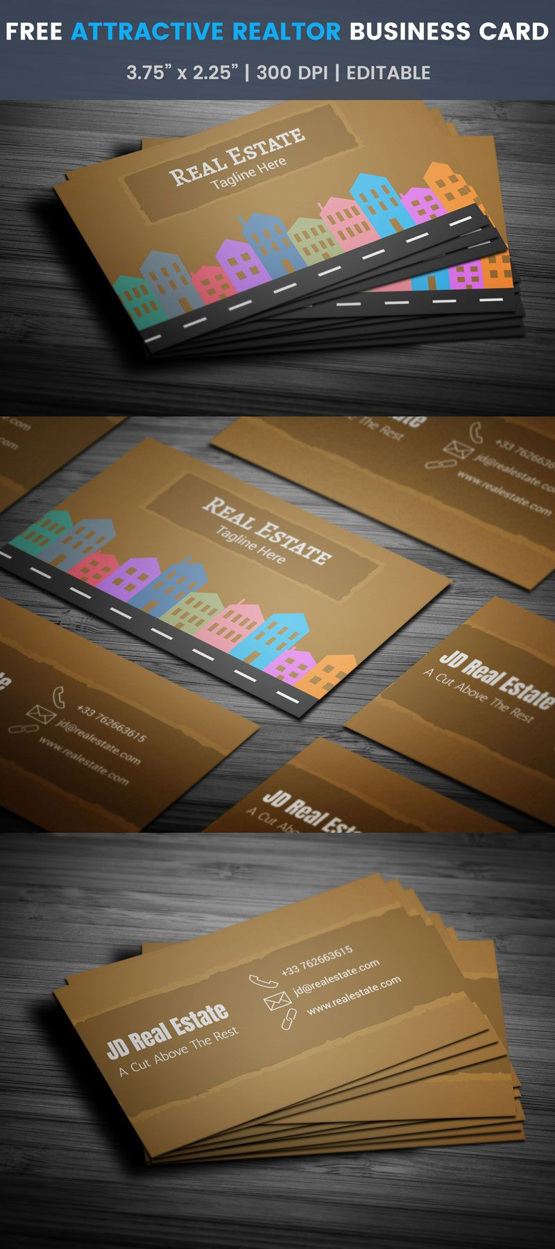 Free Commercial Real Estate Business Card | Real estate business ...