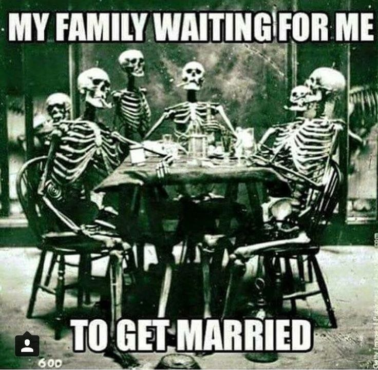 My family waiting for me to get married.