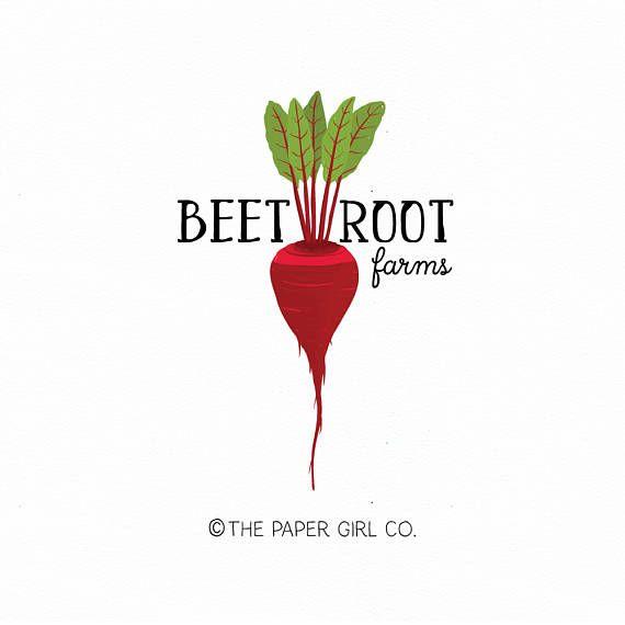 beetroot logo beet logo farm logo veggie logo vegetable