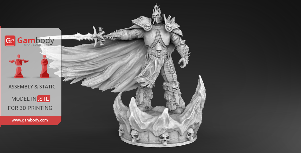 Wrath of the Lich King 3D Printing Figurine   Assembly   3D