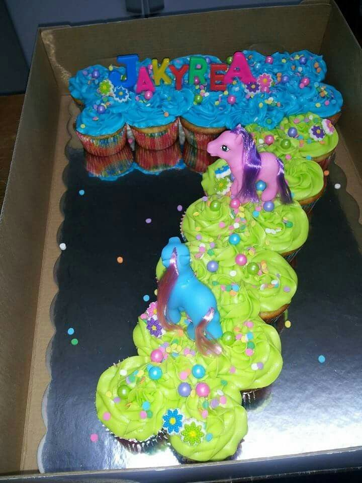Number 7 My Little Pony Pull Apart Cupcakes Party Planning In 2018