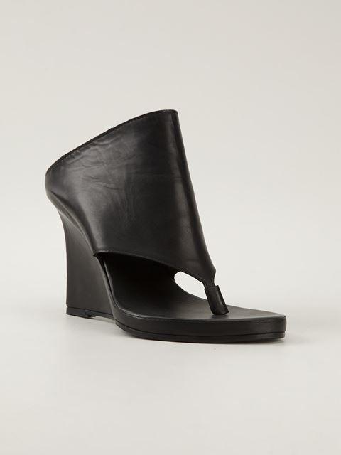 Ann Demeulemeester Black Wedge Heels Aw0wVZ