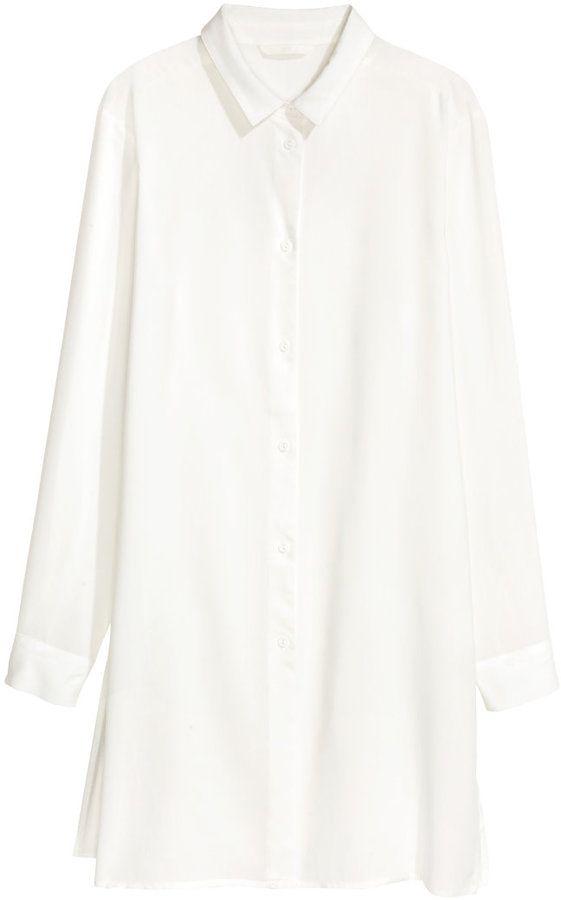 H&M - Long Shirt - White - Ladies