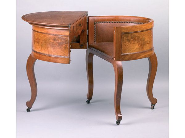 "Chair And Desk Combo this ""aaron burr"" combination of small table, desk and chair desk"