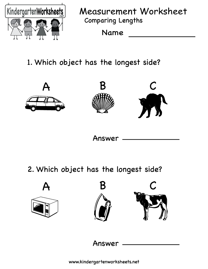 Kindergarten Measurement Worksheet Printable – Measurement Worksheets for Kindergarten