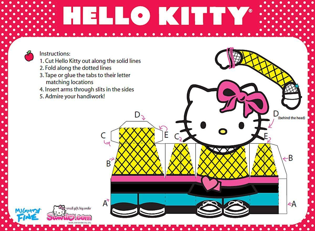 La Casita de Caro: Hello kitty Paper Dolls!! | sticker | Pinterest ...